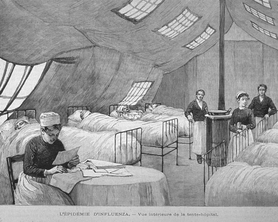 Bilde av influensaepidemi